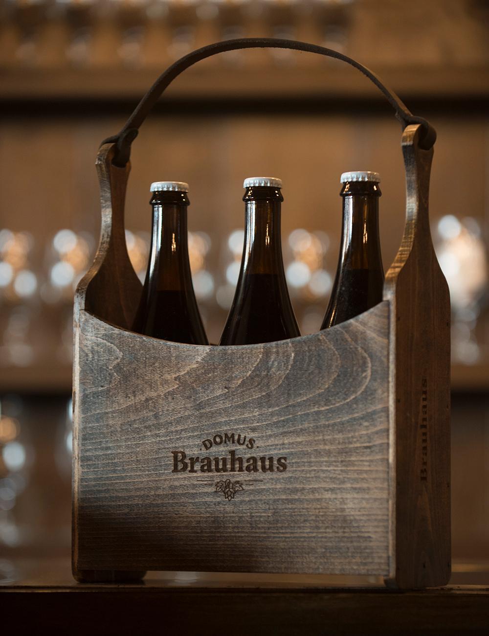 Domus Brauhaus boutique shop handgemaakte houten biermand