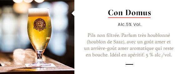 Domus Brauhaus bières Con Domus